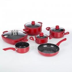 Keraamiliste pottide komplekt Gourmet Maxx 6 induction red