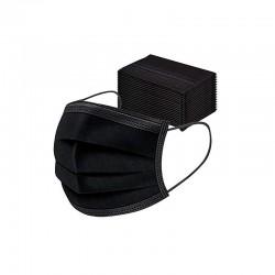 50 tk mustad ühekordselt kasutatavad näomaskid