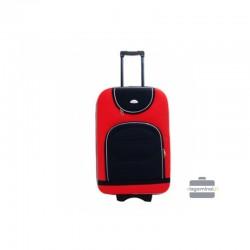 Keskmise suurusega kohver Deli 801-V punane must