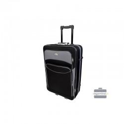 Keskmise suurusega kohver Deli 101-V must hall