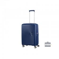 Keskmise suurusega kohver American Tourister Soundbox V dark blue