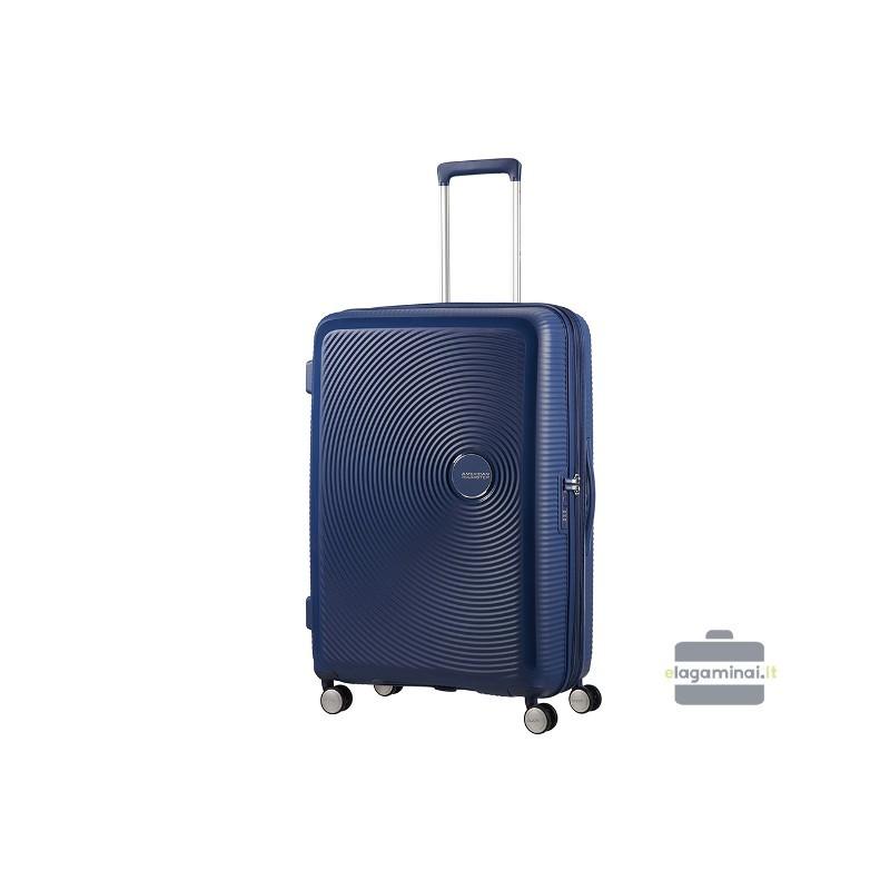 Suur kohver American Tourister Soundbox D dark blue